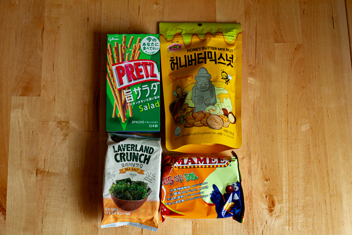 Asian snacks for making cookies